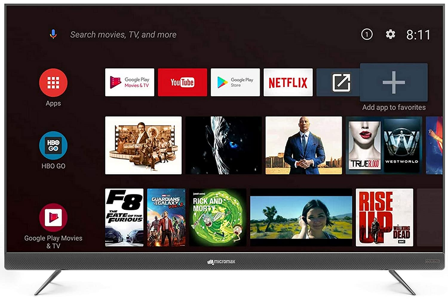 4K UHD Micromax (49 inches)  LED Certified Android TV 49TA7000UHD