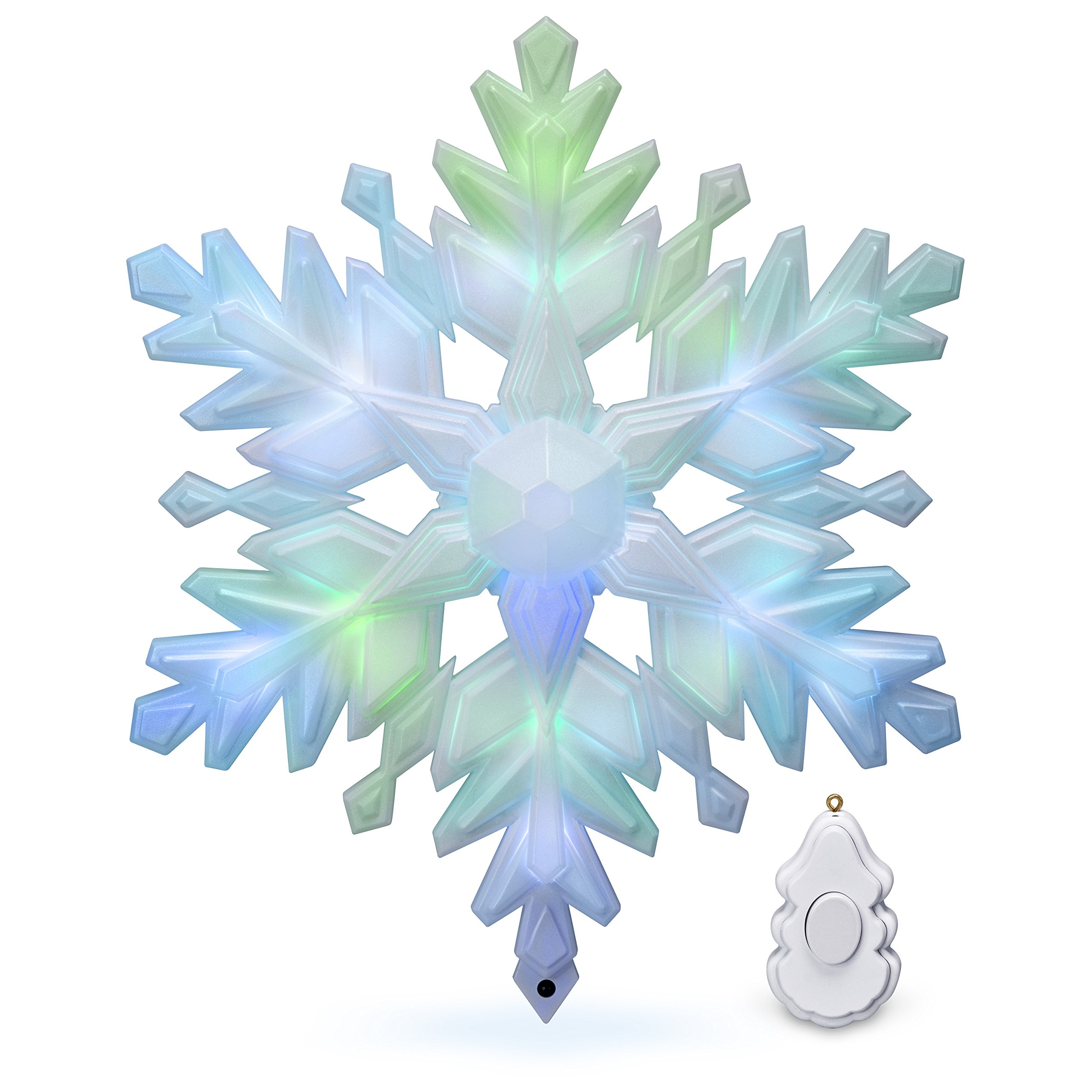 Hallmark Keepsake Christmas Tree Topper 2018 Year Dated, Stunning Snowflake With Music and Light