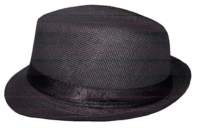 Amazon.com  Fedora Trilby Hats For Kids - Black Color (FedHatK30 Z ... b6e74e254e5
