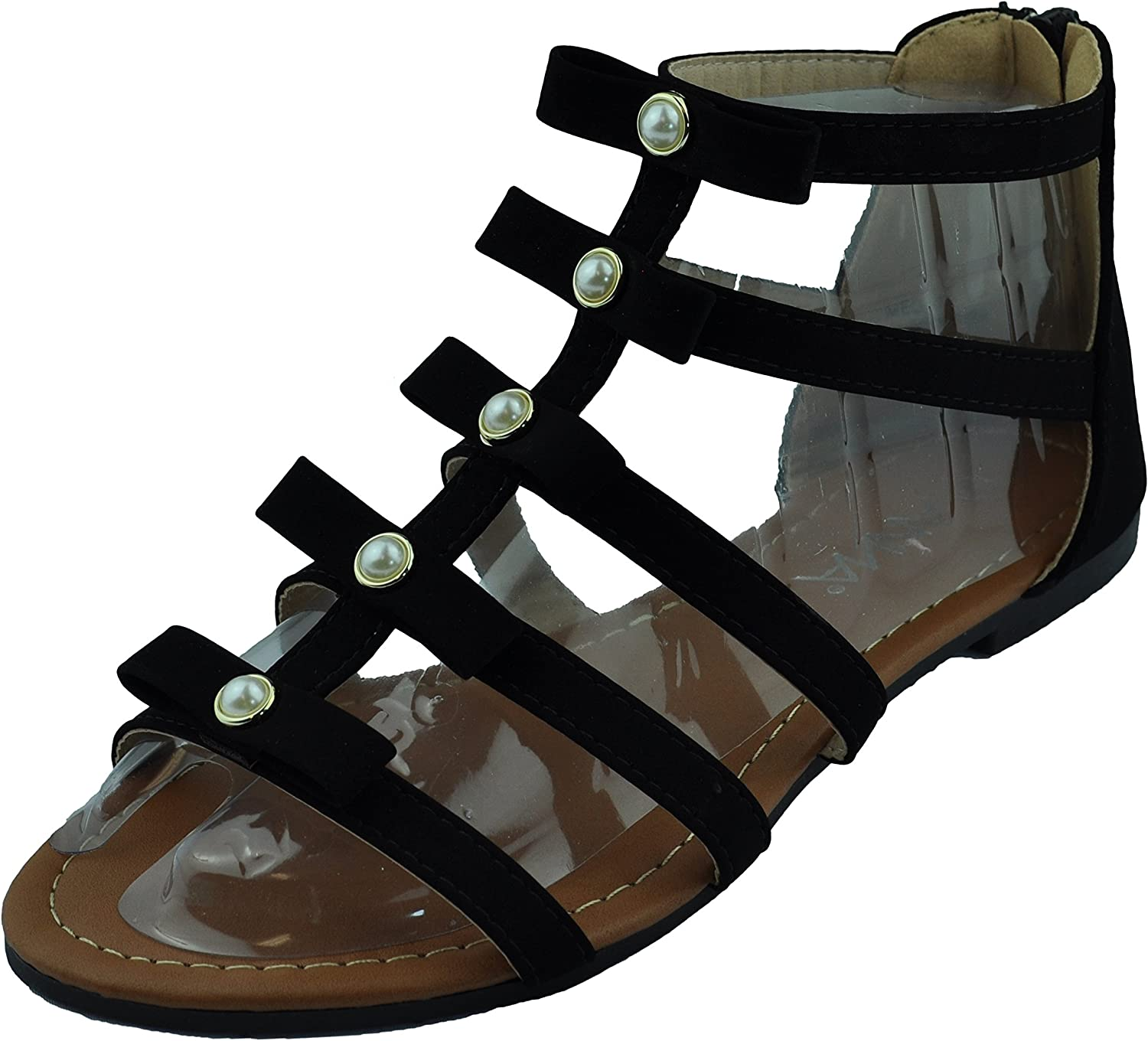 Summer Off White//Gold Womens Shoes Roman Gladiator Sandals Size 6.5