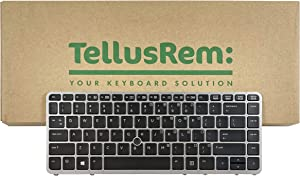 TellusRem Replacement New US Backlit Keyboard with Pointer for HP 840 G1, 845 G1, 850 G1, 840 G2, 845 G2, 850 G2