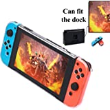 Nintendo Switch Dock Friendly Cover Case, MENEEA Protective Clear Case for Nintendo Switch
