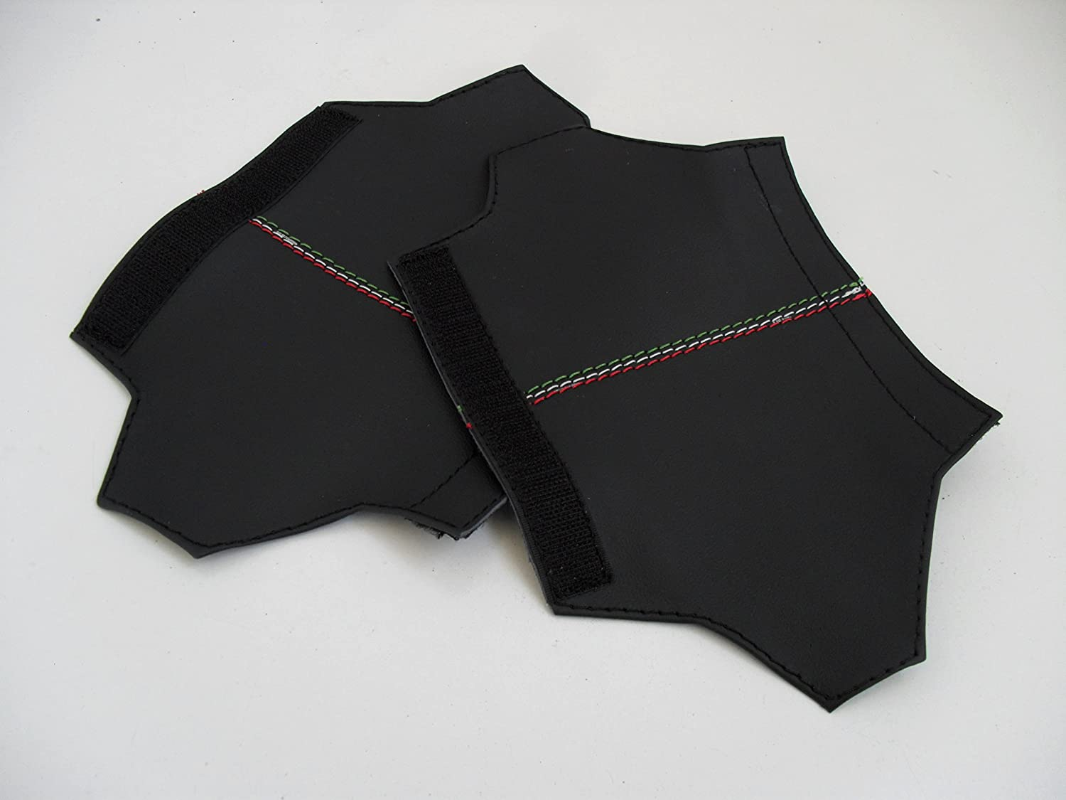 Internal Handle Coating for DX and SX Alfa Romeo Giulietta Made From Real Black Leather with Red Stitching