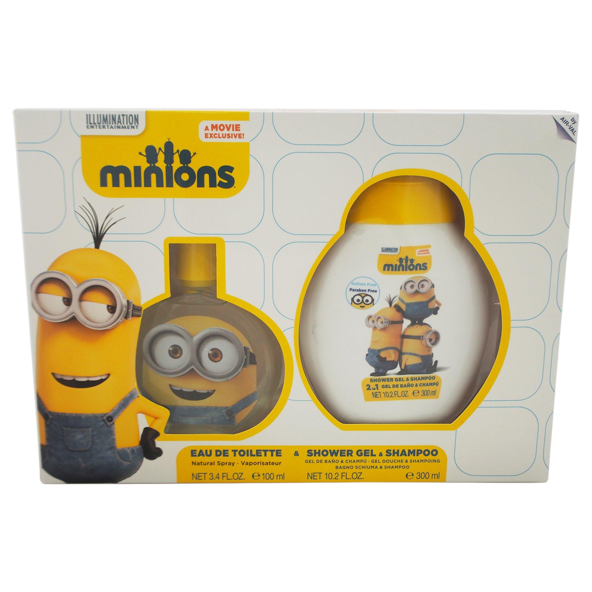 Minions by Minions for Kids - 2 Pc Gift Set 3.4oz EDT Spray, 10.2oz Shower Gel & Shampoo