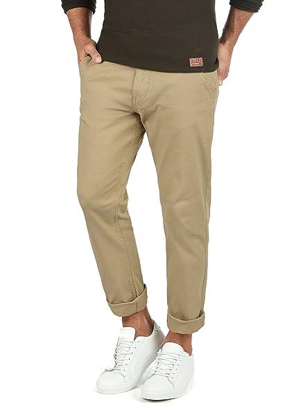 6369ccec5f035 Blend Kainz Pantalón Chino Pantalones De Tela para Hombre Elástico  Regular-Fit  Amazon.es  Ropa y accesorios