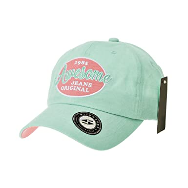 e5f170e7603 WITHMOONS Baseball Cap Patch Simple Plain Ball Cap for Men Women Awesome  Lettering Cotton Hat CR1920