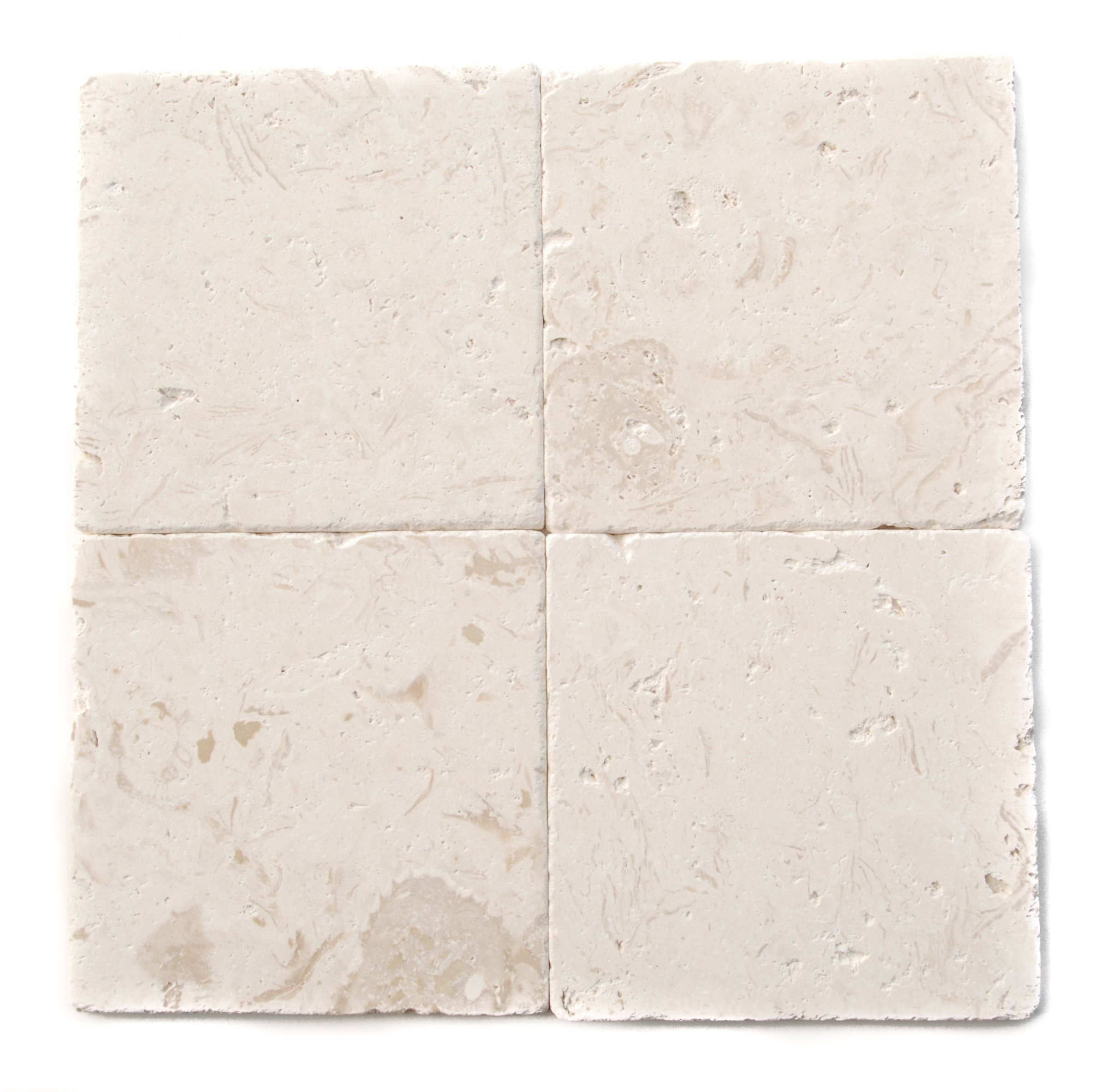 Myra Beige Limestone 6X6 Tumbled Tiles (LOT of 50 SQ. FT.)