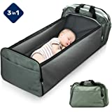 Scuddles 3-1 Portable Bassinet for Baby - Foldable Baby Bed - Travel Bassinet Functions As Diaper Bag and Changing…