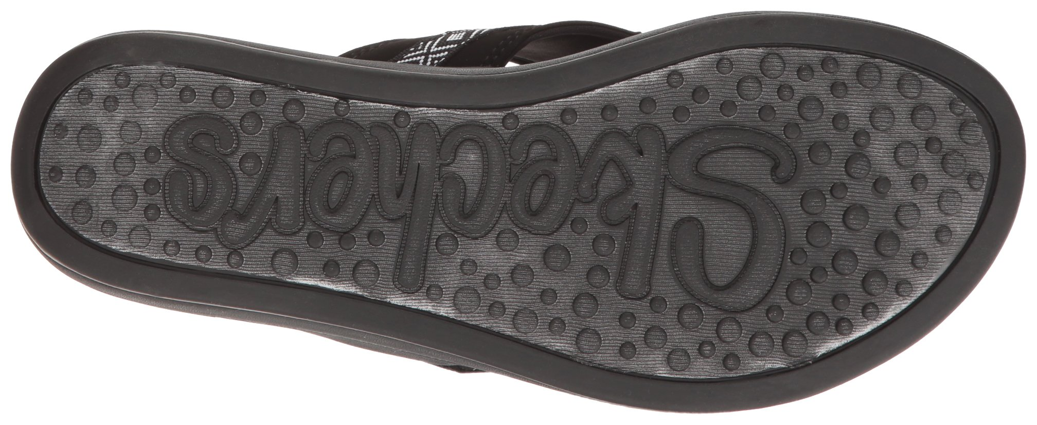Skechers Modern Comfort Sandals Women's Upgrades Marina Bay Flip Flop Black/White, 8 M US by Skechers (Image #3)