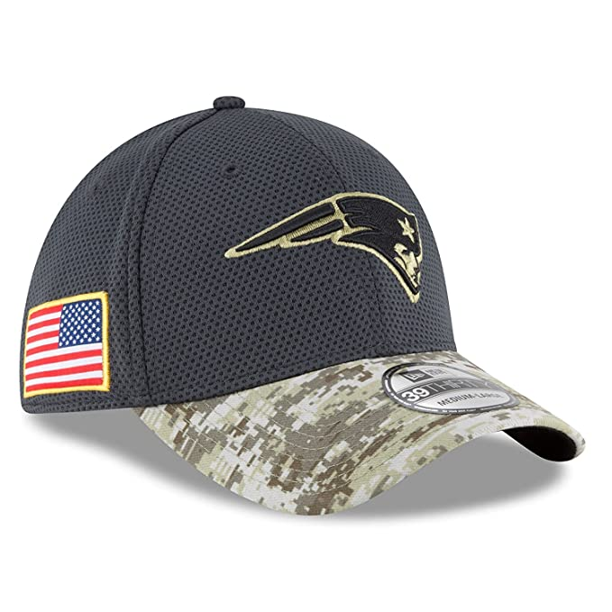 hot sale online 15076 c3c2d 100% Authentic, NWT, New England Patriots Salute to Service Camo 39Thrirty  Flexfit Cap Hat (Small   Medium)  Amazon.ca  Clothing   Accessories