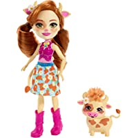 Enchantimals- Cailey Cow y Curdle Muñeca con mascota