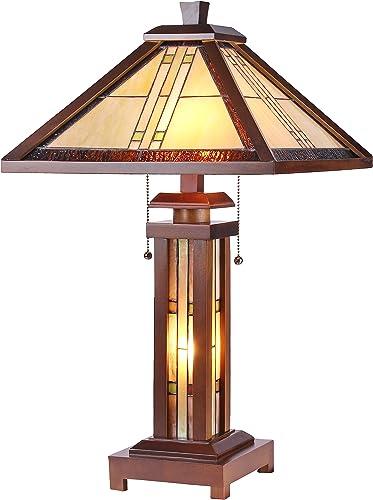 Chloe CH35827WM15-DT3 Earle Double Lit Table Lamp