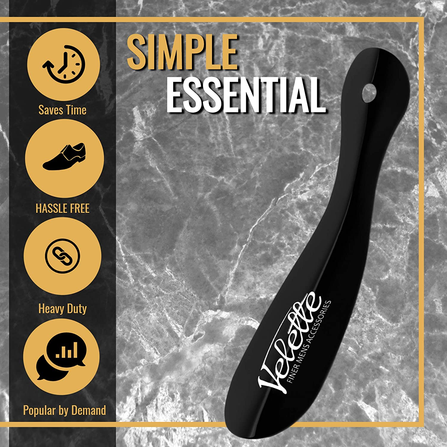 2 Pack 7.5 Long Black Shoe Horns by Quality Stays Metal Shoe Horn Top Quality Shoe Helper