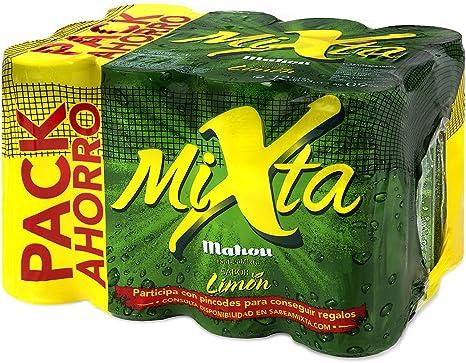 Mahou - Mixta Cerveza Clara, 0.9% de Volumen de Alcohol - Pack de ...