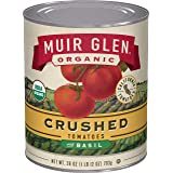 Muir Glen Canned Tomatoes, Organic Crushed Tomatoes with Basil, No Sugar Added, 28 Ounce Can