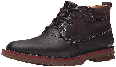 CLARKS Men's Varick Hill Chukka Boot, Dark Brown, ...