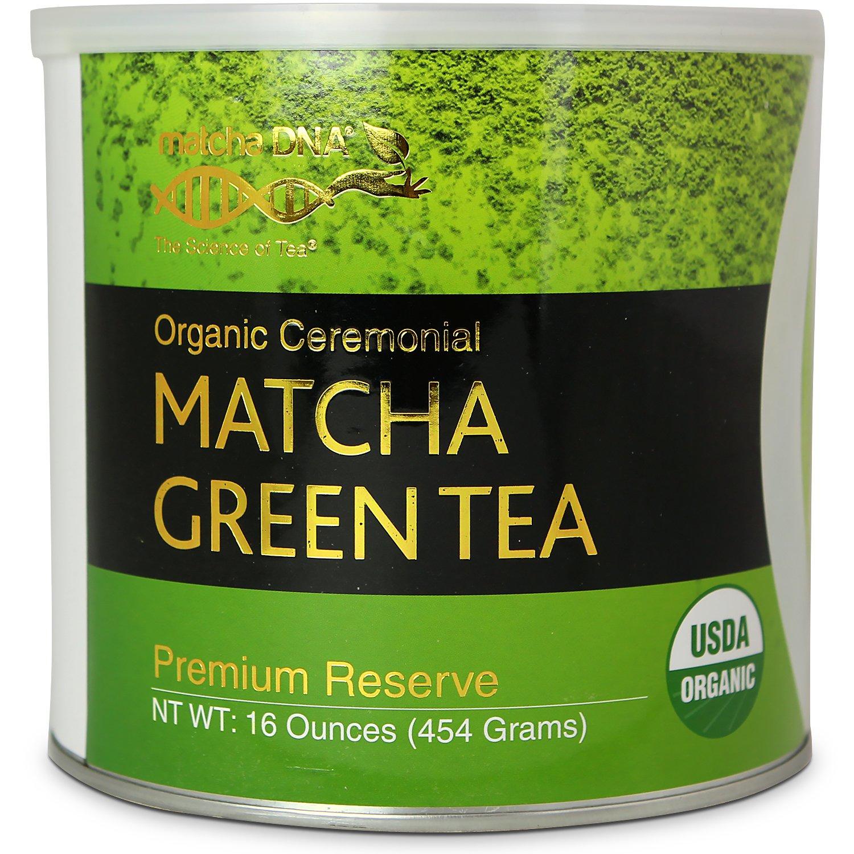 Matcha DNA Certified Organic Ceremonial Grade Matcha Green Tea, TIN CAN (16 Ounce)