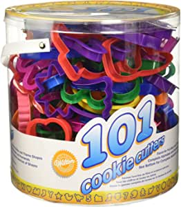Wilton Cookie Cutters Set, 101-Piece — Alphabet, Numbers and Holiday Cookie Cutters