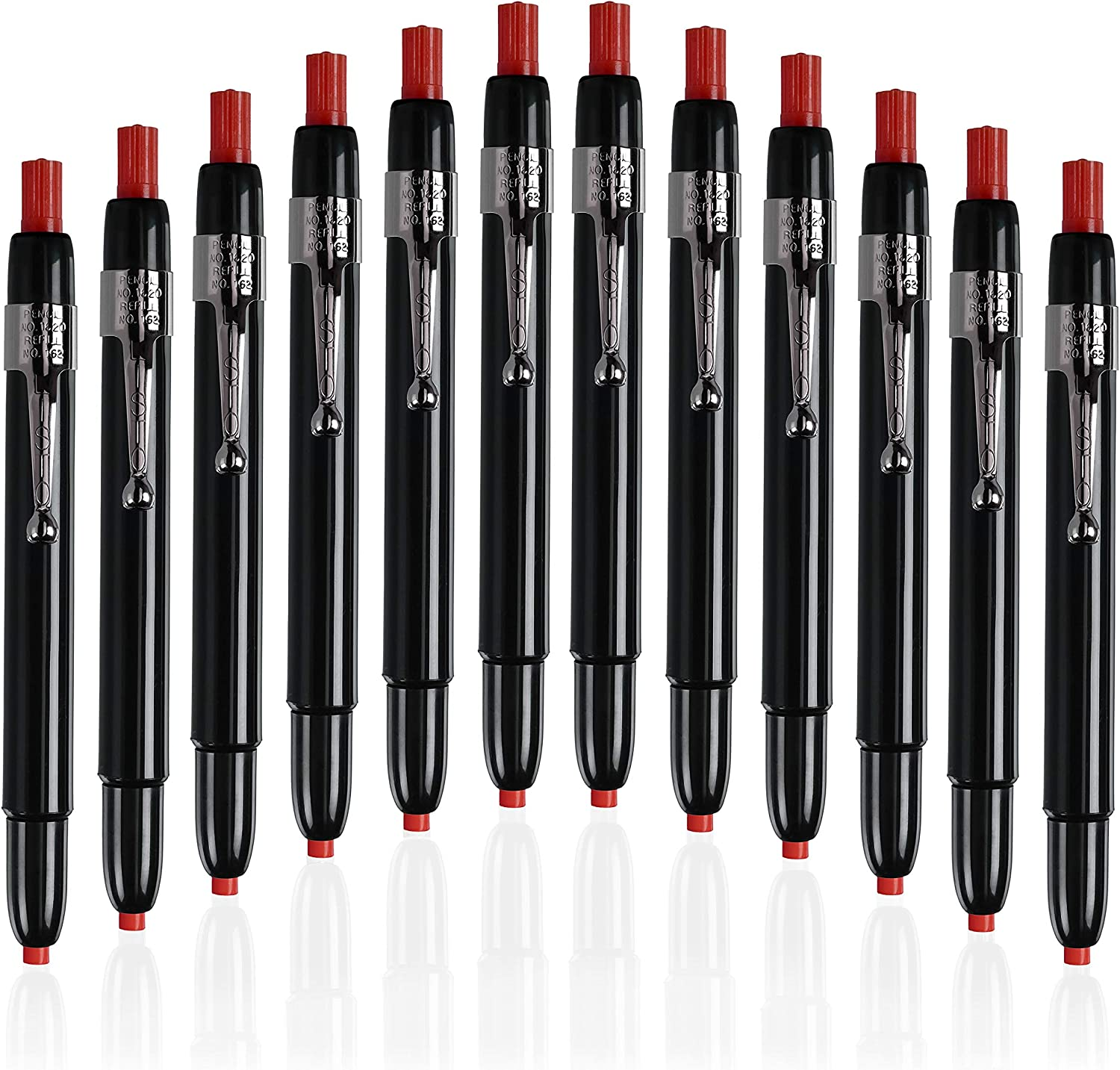 Listo 1620 - Box of 12 - RED COLOR - China Markers/Grease Pencils/China Marking Pencils/Wax Pencils : Mechanical Pencils : Office Products