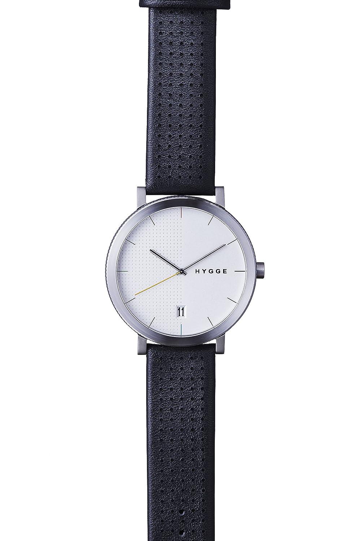 Hygge Unisex-Armbanduhr 2203 Analog Leder Schwarz MSL2203C(BK)