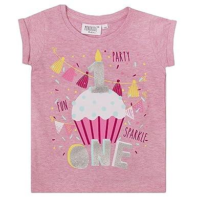 e8eb6d4b Minikidz Childrens/Boys/Girls Birthday/I Am/Age Number T-Shirt/1 2 3 4 5 6  Year (1 Year Girls): Amazon.co.uk: Clothing
