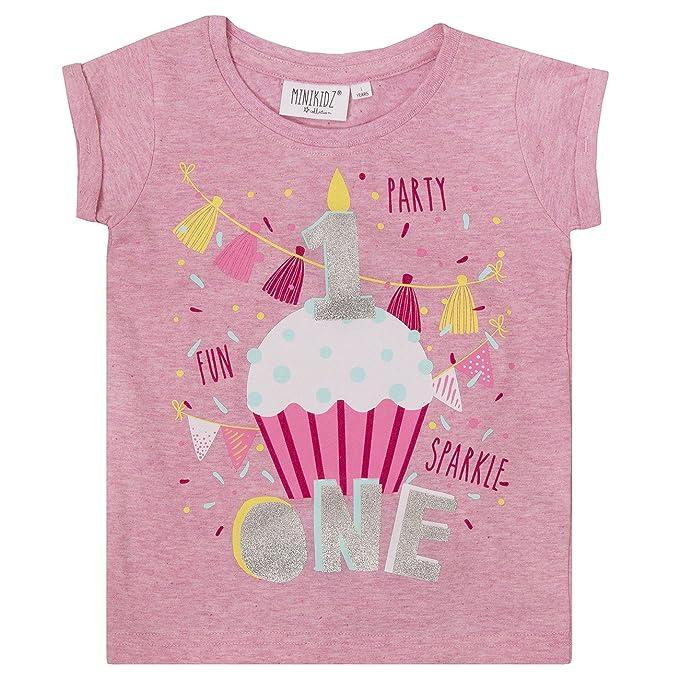 Amazon.com: Minikidz infantil niñas cumpleaños playera ...