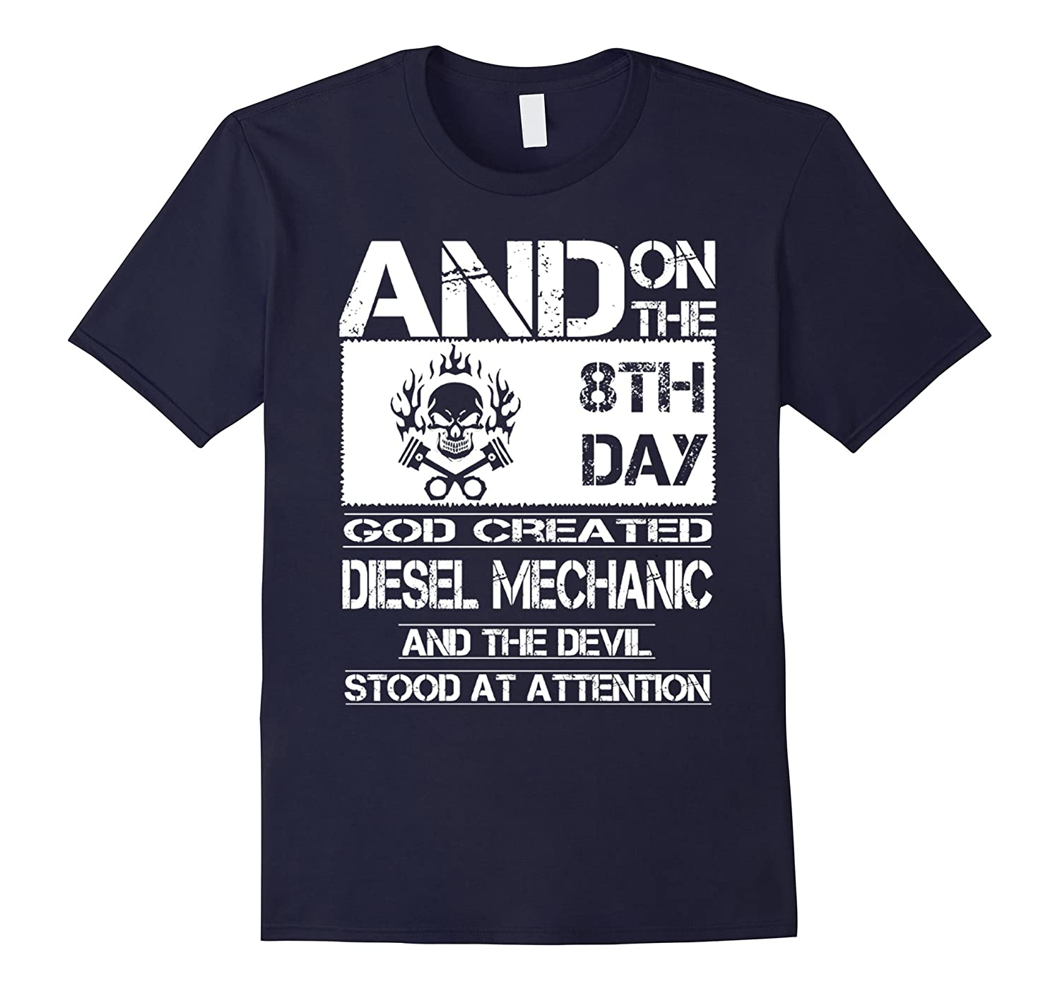 Funny Diesel Mechanic Saying Quote, Proud Job title T-Shirt-BN