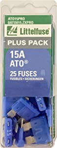 Littelfuse ATO15PRO ATO BP PRO Fast-Acting Automotive Blade Fuse - 25 Piece
