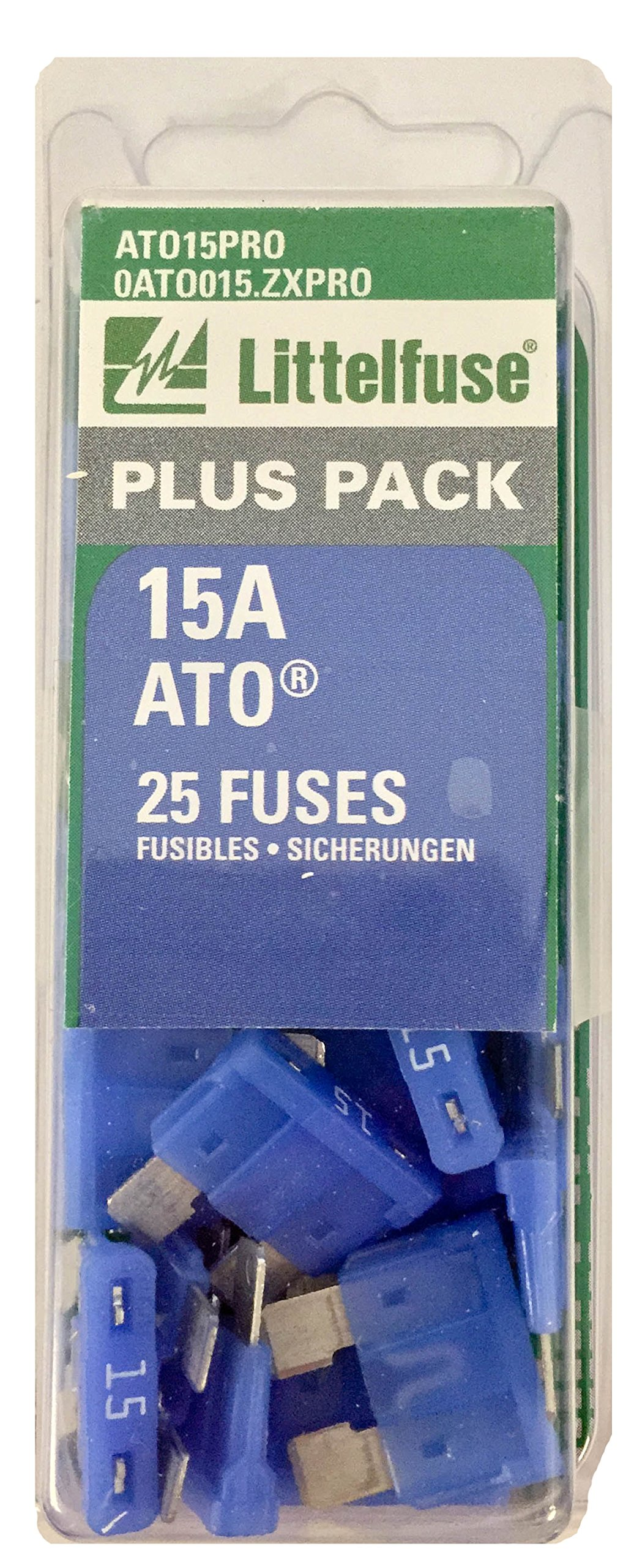 Littelfuse Ato15pro Ato Bp Pro Fast Acting Automotive Blade Fuse Box Holder 25 Piece