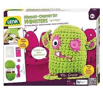 Lena 42524 Häkelset Grumpy Monster Komplettset Zum Häkeln Von 2