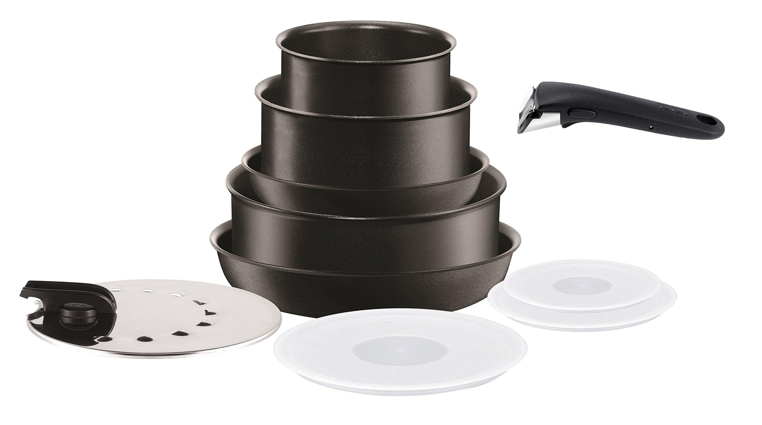 Tefal L6549602 Set de 10 Piezas de cocinar, Aleación, Negro, 1 cm product