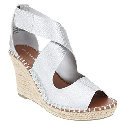 Rampage Women's Holmes Espadrille Wedge Sandals with Criss Cross Strap and Adjustable Closure | Platforms & Wedges