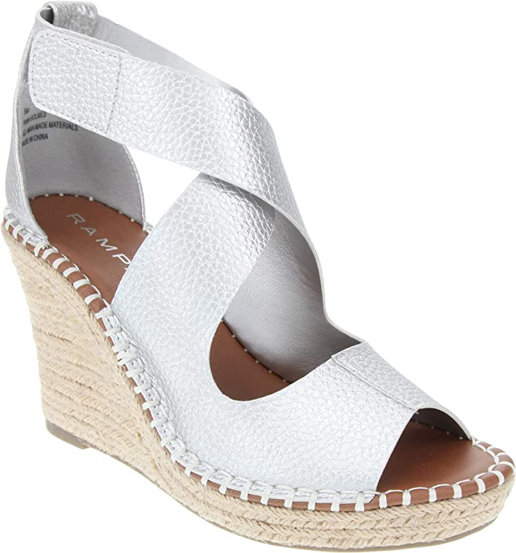 a79d9e0fa54 Women's Holmes Espadrille Wedge Sandals with Criss Cross Strap and  Adjustable Closure