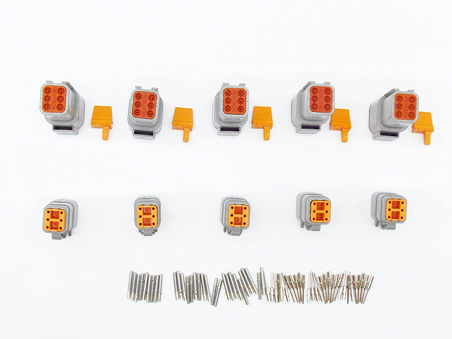 CNKF 5 Sets DTM Gray Plug 6 position way male female auto connector DTM06-6S DTM04-6P with terminals pins
