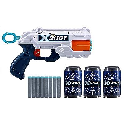 ZURU X-Short Reflex 6 Rotating Barrel Foam Dart Blaster Gun: Toys & Games