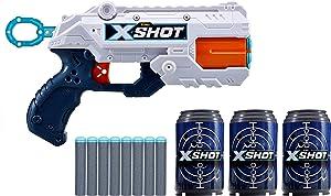 ZURU X-Short Reflex 6 Rotating Barrel Foam Dart Blaster Gun