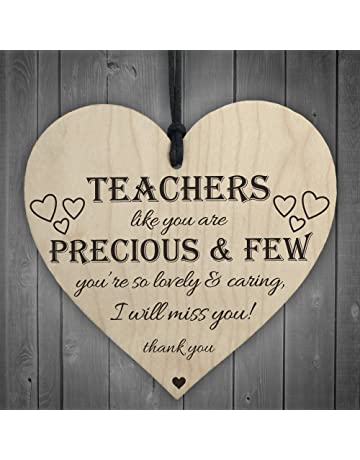 8bc17174a3 RED OCEAN Teachers Are Precious Wooden Hanging Heart Shabby Chic Thank You  Plaque Gift
