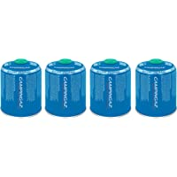 Campingaz 4 x CV 470 Plus Screw On Gas Cartridges, Pack of 4, for Camping Stoves, Compact and Resealable Canister