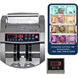 Stok ST-MC01 New Notes 50, 200, 500 & 2000 Cash Counting Machine With Fake Note Detector & LED Display