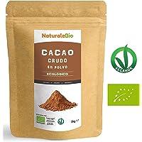 Cacao crudo Ecológico en Polvo 1kg | Organic Raw Cacao Powder | 100% Bio,