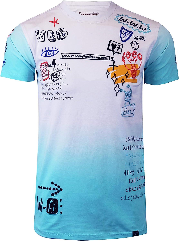 NYC Street Fashion Streetwear Longline Print T-Shirt Screenshotbrand Mens Hipster Hip-Hop Urban Modern Tees