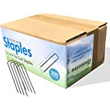 Sandbaggy 200-Pack 6 inch Landscape Staples - Great for Securing Landscape Fabric, Ground Cover or Drip Irrigation Tubing - T