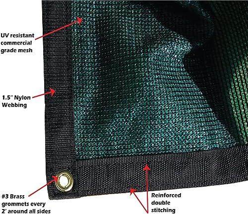 Xtarps – 6 ft. x 8 ft. – 7 OZ Premium 90 Shade Cloth, Shade Sail, Sun Shade Green Color
