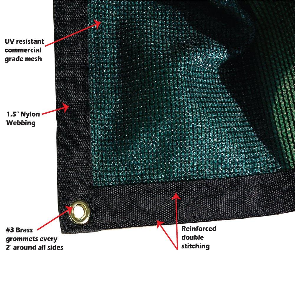 Size: 6 ft. x 8 ft. -  7 oz Premium 90% Shade Cloth, Shade Sail, Sun Shade (Green Color) (MN-MS90-G0608)