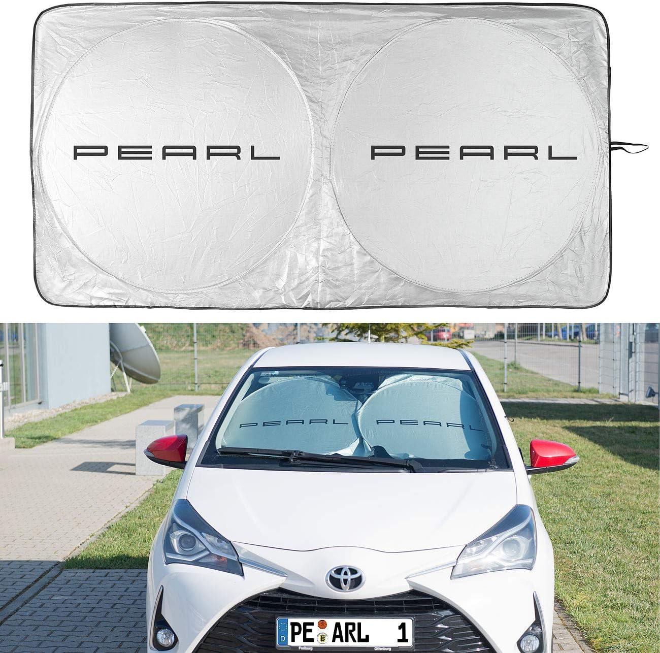 Infactory Sonnenschutz Auto 2er Set Universal Sonnenschutzfolie Für Die Windschutzscheibe Kfz Sonnenschutz Auto
