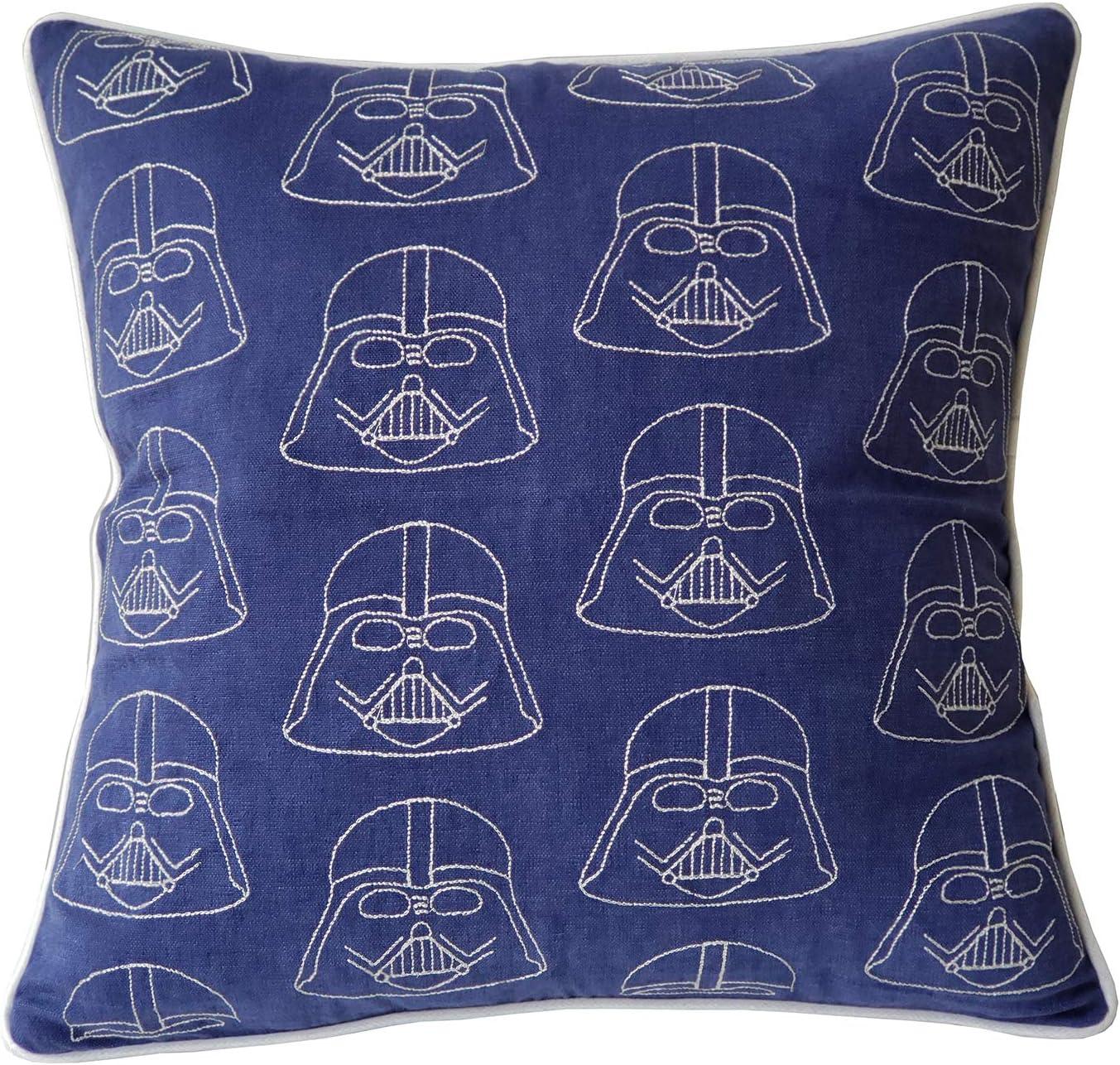 "EurasiaDecor DecorHouzz Darth Vader Star Wars Embroidered Pillow Cases Cushion Cover Teen Children Standard Decorative Gift Birthday Kids 18""x18"" (18X18, Darth Embroidered)"