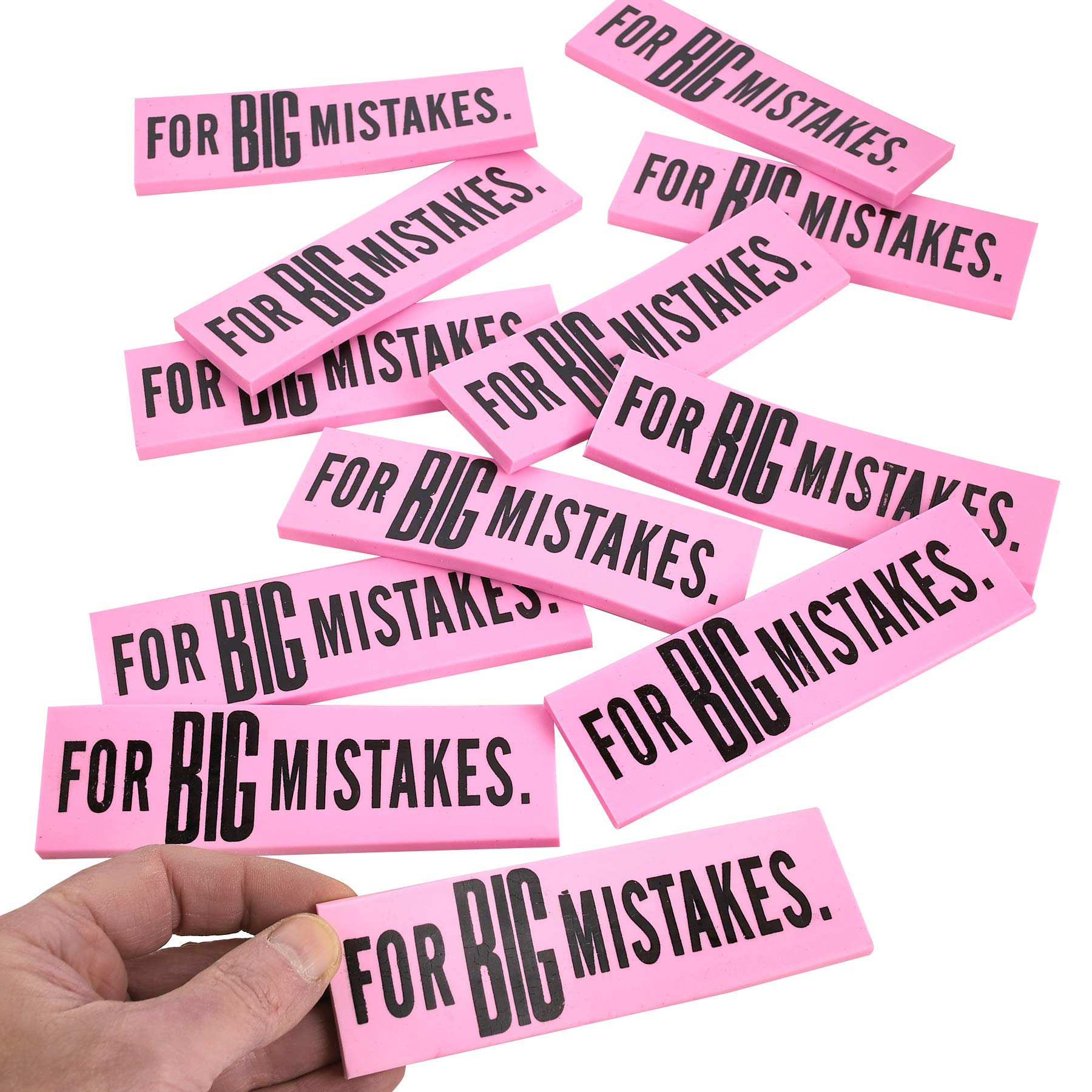 Kicko Big Mistake Eraser - 12 Pack Jumbo Eraser - 5.5 x 1.5 Inches - Pencil Eraser School Supplies for Kids - Children on Preschool, Elementary and Middle School by Kicko (Image #3)