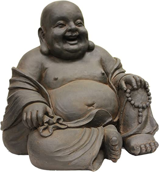 Amazon.com: Hi-Line Gift Ltd. Estatua de buda sentado y ...