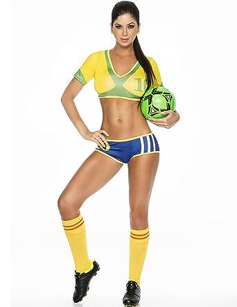 809ab59e8475 Amazon.com  Espiral Samba Champion Outfit in Blue Yellow