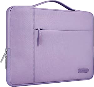 MOSISO Laptop Sleeve Compatible with 13-13.3 inch MacBook Air, MacBook Pro, Notebook Computer, Polyester Multifunctional Briefcase Carrying Bag, Light Purple